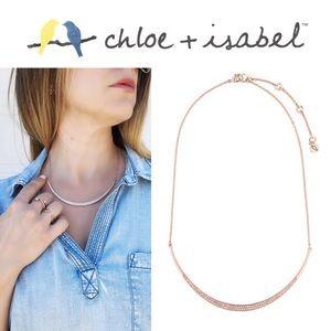 🆕 Sparkling Rosé Collar Necklace c+i N578CLSRG